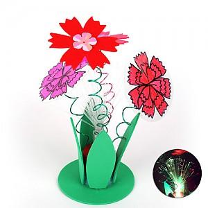 광섬유 카네이션 꽃동산 - 10개
