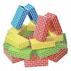 5색꼬마 종이벽돌
